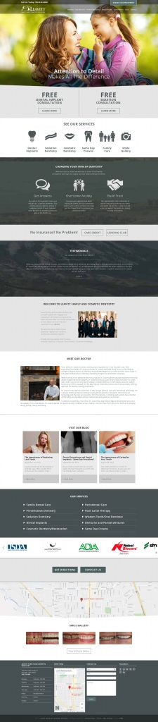 Leavitt Family Dentistry - homepage desktop screenshot