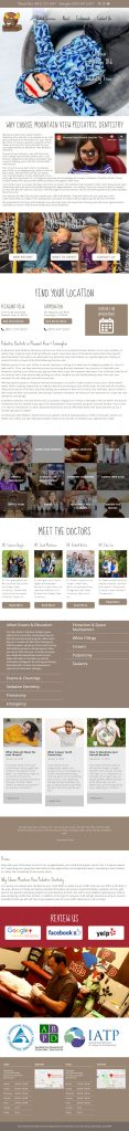 Mountain View Pediatric Dentistry - The Moose Dentist - homepage tablet screenshot