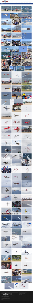 The Utah Air Show - after redesign Gallery page