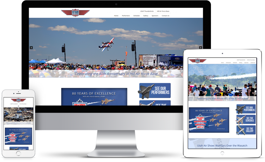 The Utah Air Show - homepage responsive mockup